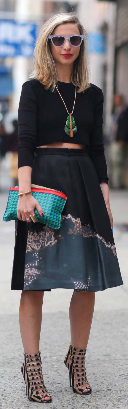 Long Sleeved Crop Top Outfit