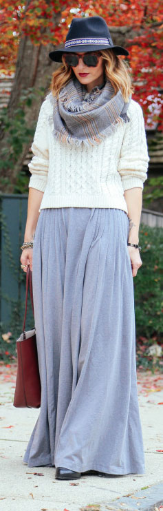 Maxi Skirt Fall Outfit