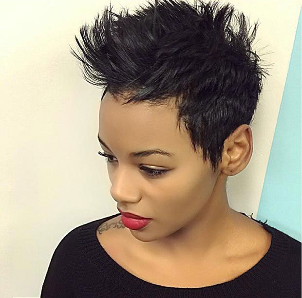 Pixie Haircut Black Images Haircuts For Men And Women