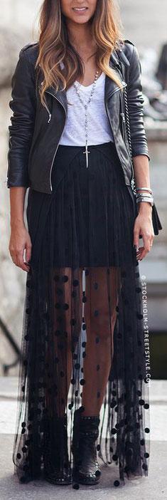 Black tulle dress tumblr