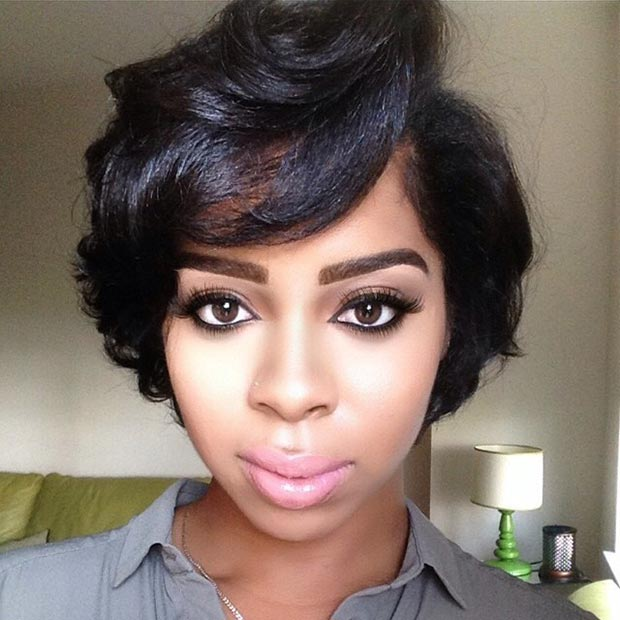Short Curled Bob for Black Women