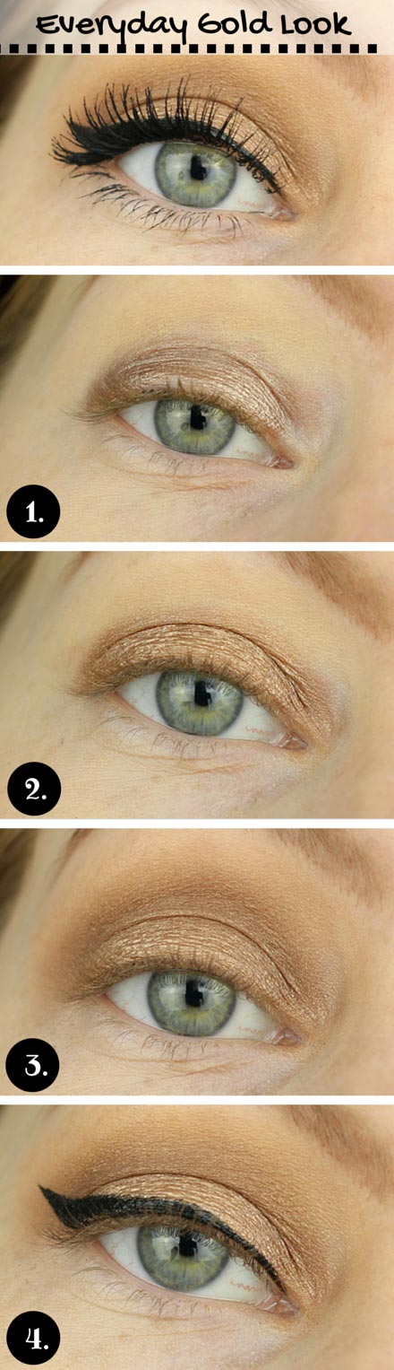 Simple Everyday Gold Look for Blue Eyes