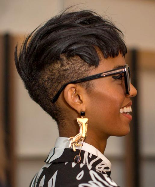 Straight Short Hair Mohawk for Black Women