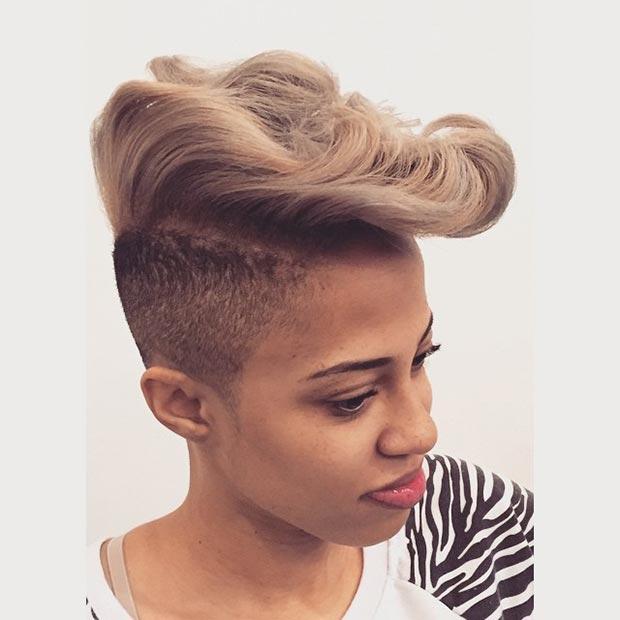 Ash Blonde Mohawk for Black Women