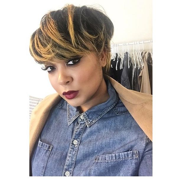 50 short hairstyles for black women stayglam short black hairstyle honey highlights urmus Choice Image