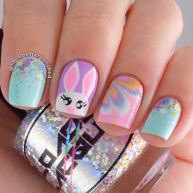 Easter Nail Design for Short Nails - 32 Cute Nail Art Designs For Easter StayGlam