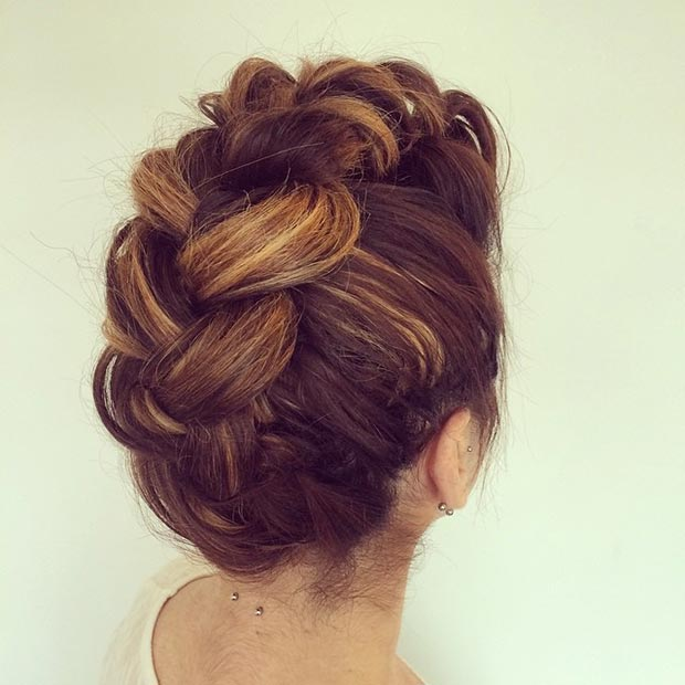 Funky Braided Updo