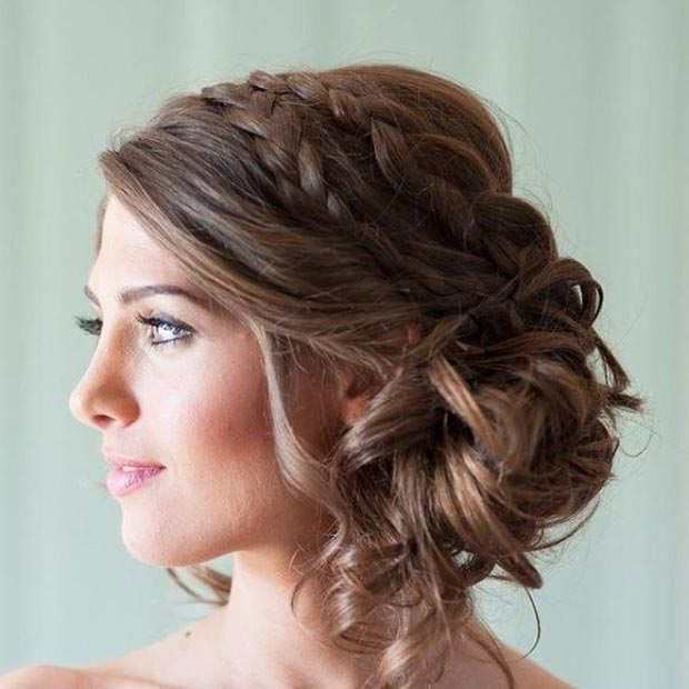 Messy Bridal Side Bun