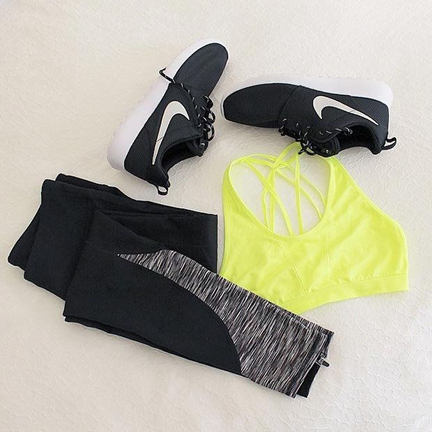 Black and Yellow Workout Outfit