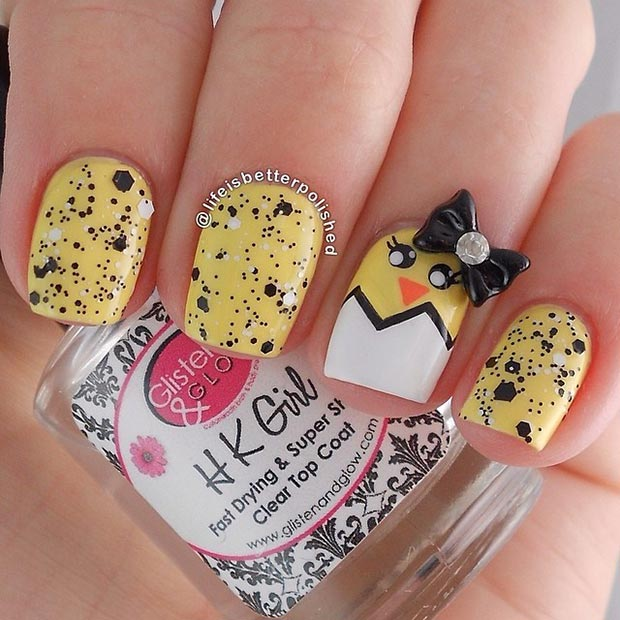 Yellow Nail Design - 32 Cute Nail Art Designs For Easter StayGlam