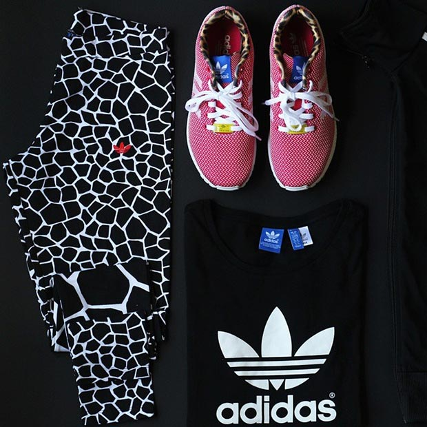 Black and White Adidas Workout Outfit