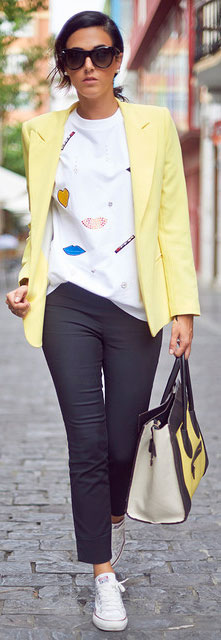 Black and Yellow Spring Outfit