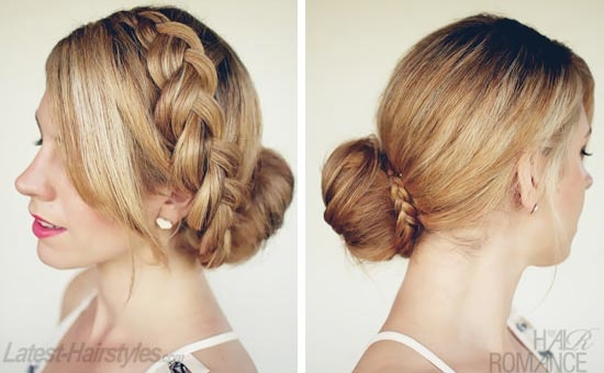 Braided Doughnut Low Bun