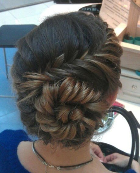 Fishtail Braid into a Bun