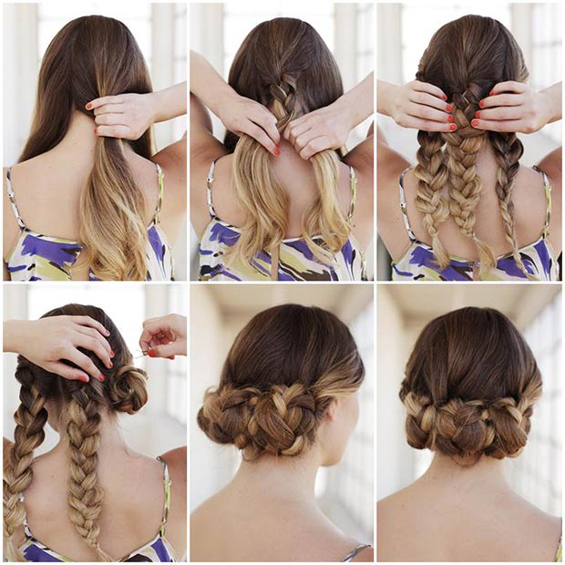 Swell 50 Cute And Trendy Updos For Long Hair Stayglam Short Hairstyles Gunalazisus