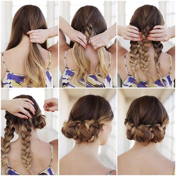 Astounding 50 Cute And Trendy Updos For Long Hair Stayglam Short Hairstyles For Black Women Fulllsitofus