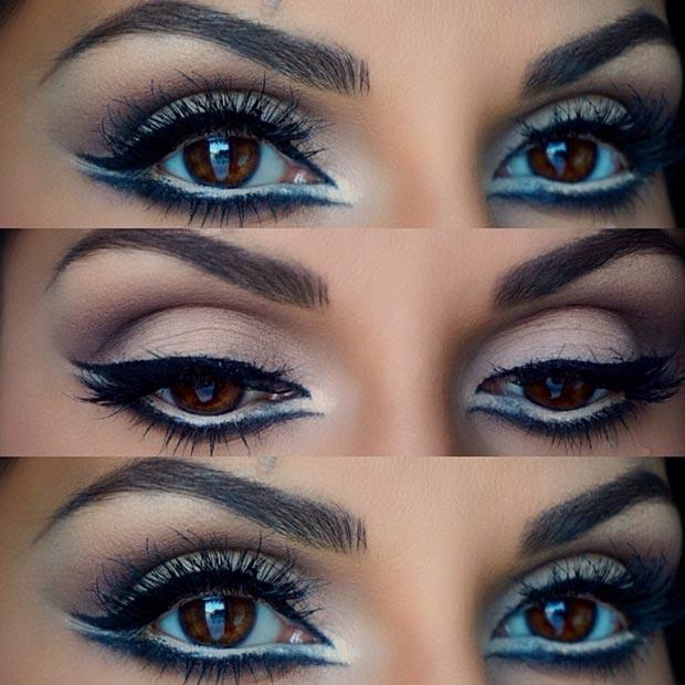Double Black Winged Eyeliner Eyes