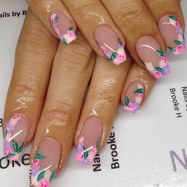 50 flower nail designs for spring stayglam instagram shimmyy prinsesfo Choice Image