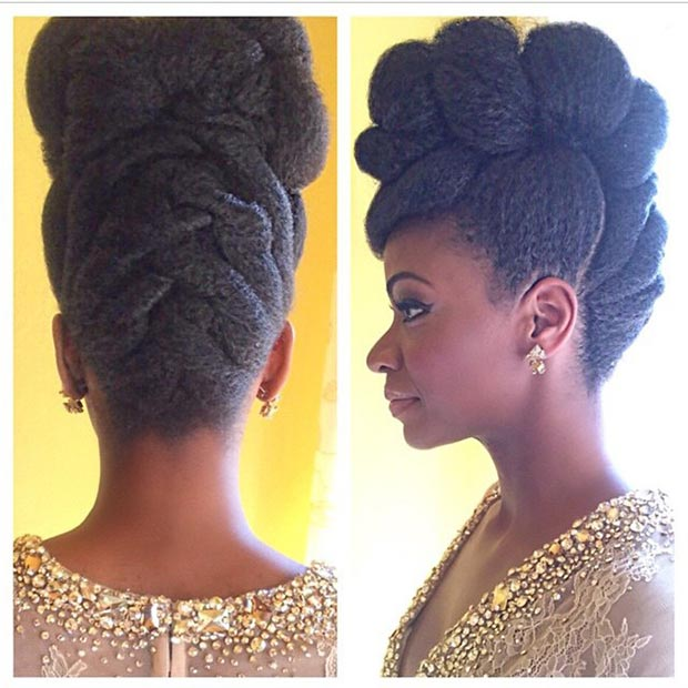 Wondrous 50 Cute And Trendy Updos For Long Hair Stayglam Short Hairstyles For Black Women Fulllsitofus