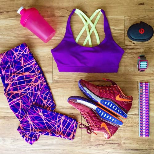 Purple Workout Outfit for Women