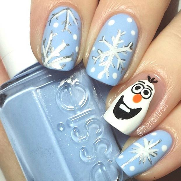 Olaf Frozen Nails
