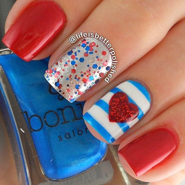 29 fantastic fourth of july nail design ideas stayglam simple nail design instagram lifeisbetterpolished prinsesfo Choice Image