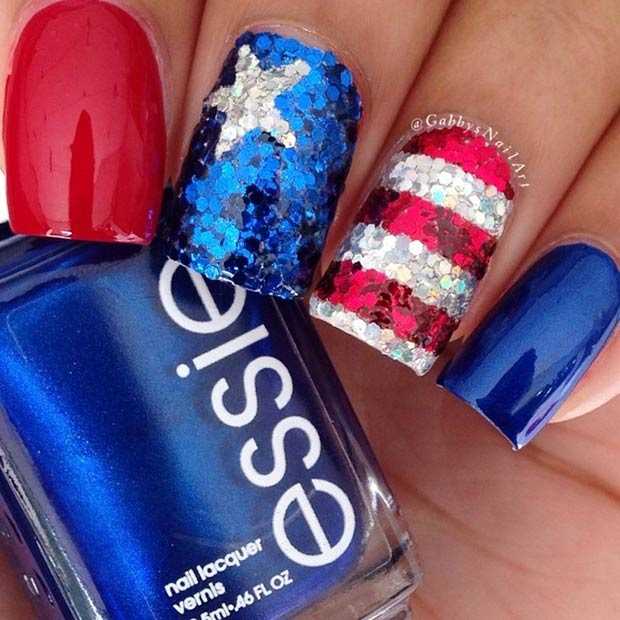 29 fantastic fourth of july nail design ideas stayglam instagram gabbysnailart prinsesfo Choice Image