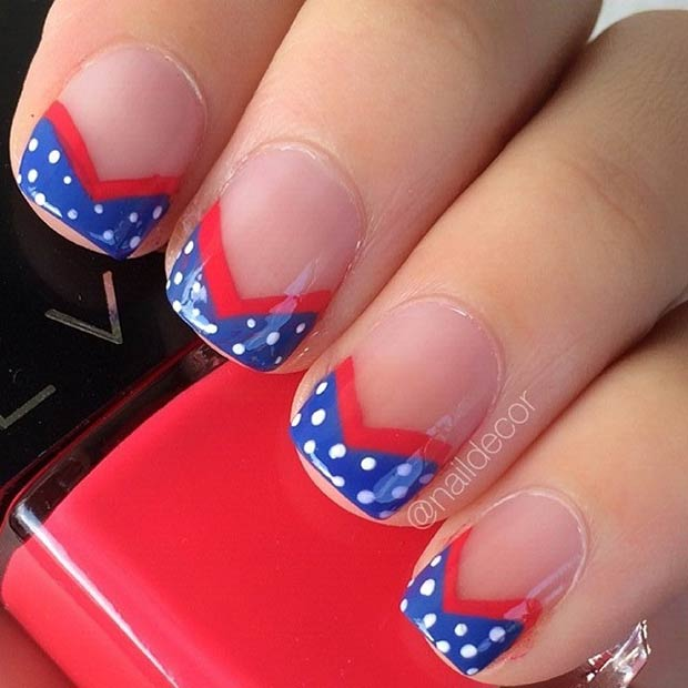 29 fantastic fourth of july nail design ideas stayglam 4th of july nail design for tips instagram naildecor prinsesfo Choice Image