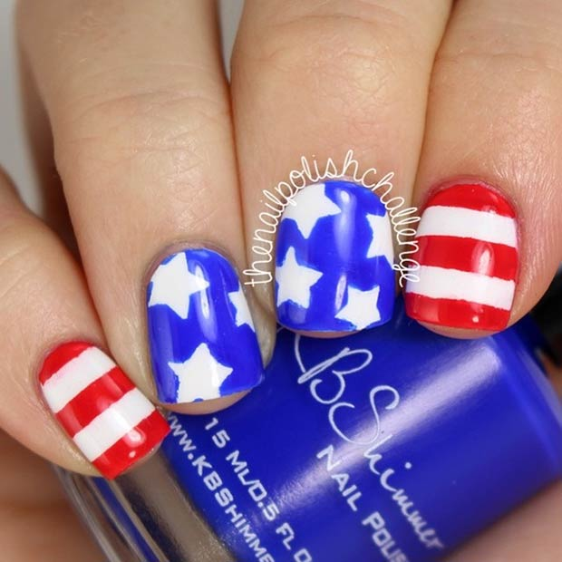 Stars & Stripes Nails