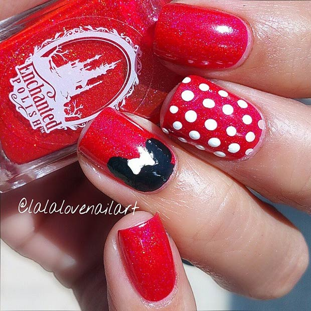 21 Super Cute Disney Nail Art Designs Page 2 Of 2 Stayglam