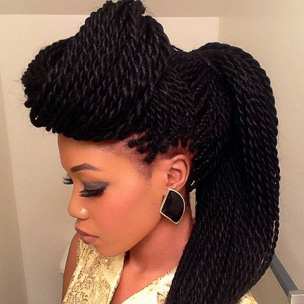 Astounding 29 Senegalese Twist Hairstyles For Black Women Stayglam Hairstyle Inspiration Daily Dogsangcom