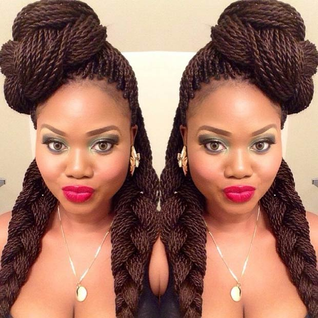 Astounding 29 Senegalese Twist Hairstyles For Black Women Stayglam Hairstyles For Men Maxibearus