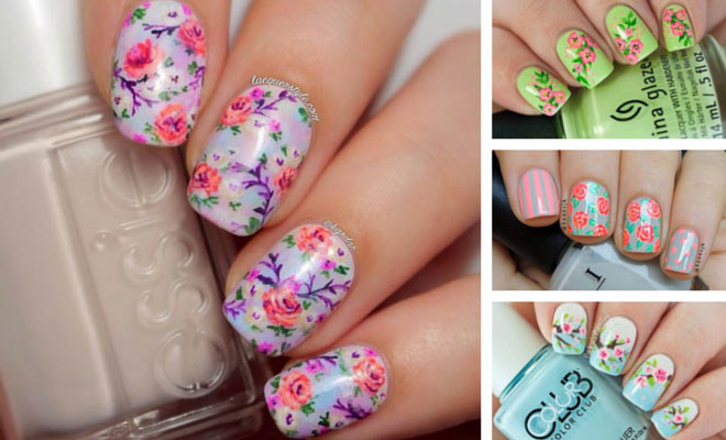 50 flower nail designs for spring stayglam prinsesfo Gallery