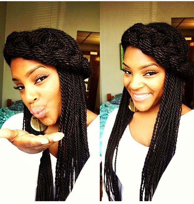Half-Up, Half-Down Senegalese Twist Style
