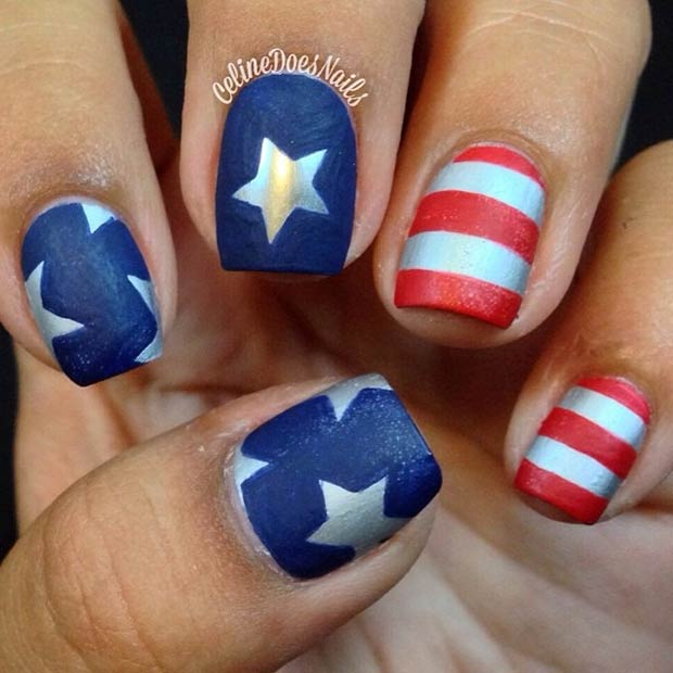 29 fantastic fourth of july nail design ideas stayglam instagram celinedoesnails prinsesfo Image collections