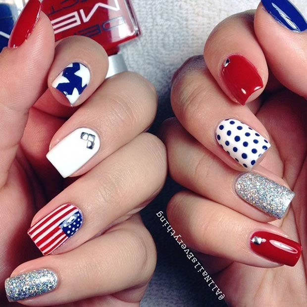29 fantastic fourth of july nail design ideas stayglam instagram allnailseverything prinsesfo Choice Image