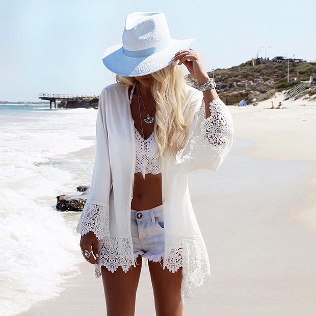Beach Outfit - 30 Fashionable All White Outfits For Any Season StayGlam