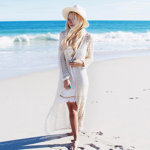 All White Boho Outfit