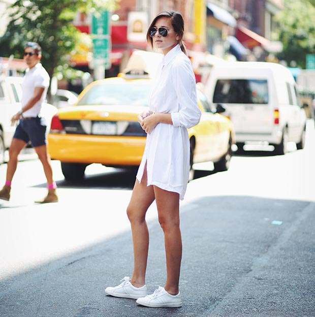 All-White-Casual-Outfit All White Party Dress Ideas for Women-19 Perfect White Outfits