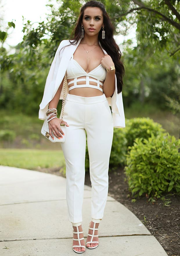 All White Party Dress Women