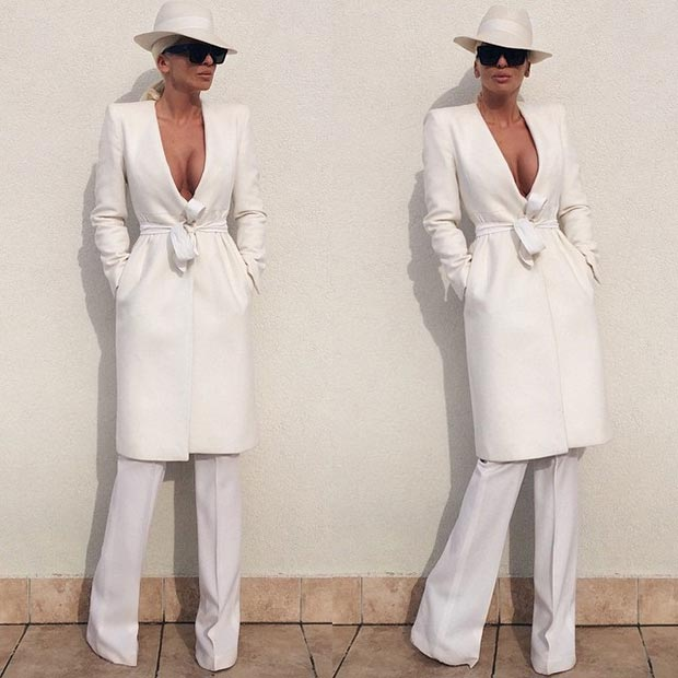 All White Glam Outfit
