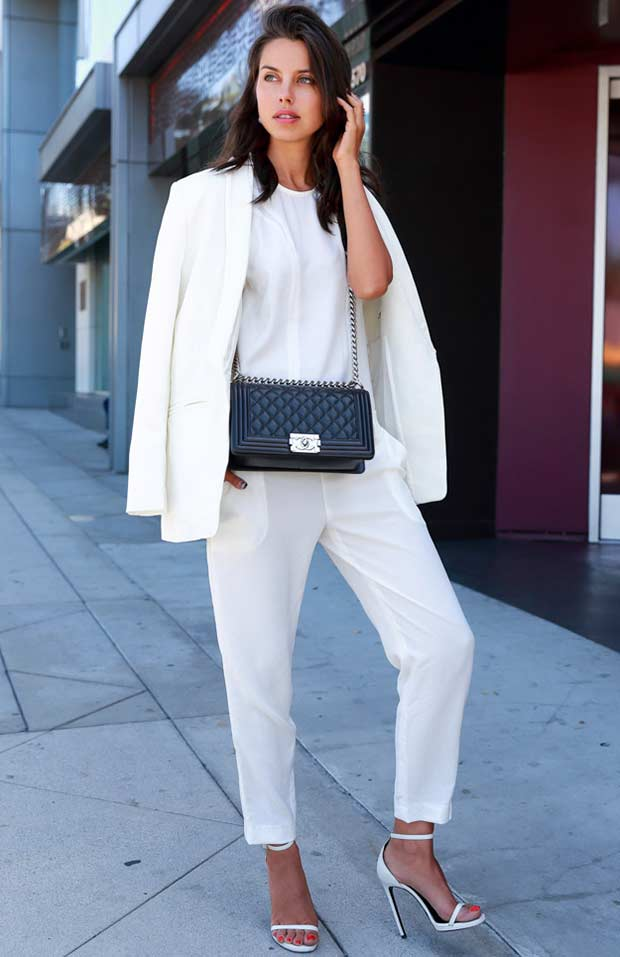 Elegant All White Outfit Idea