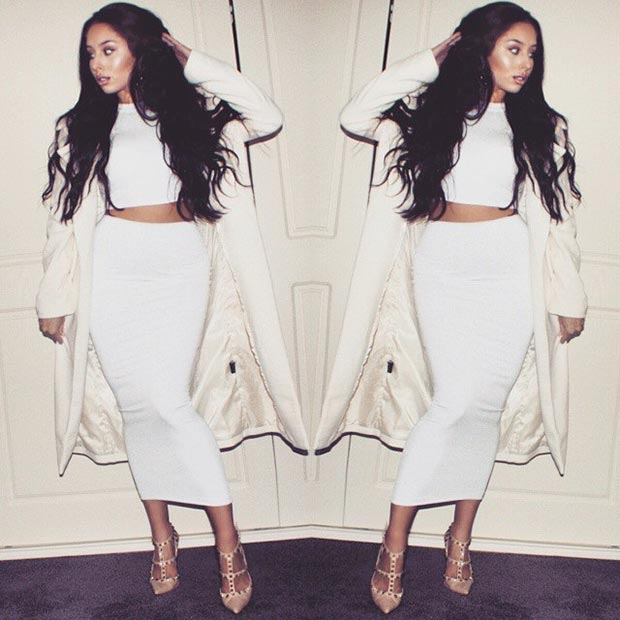 30 fashionable all white outfits for any season stayglam white two piece coat urmus Image collections