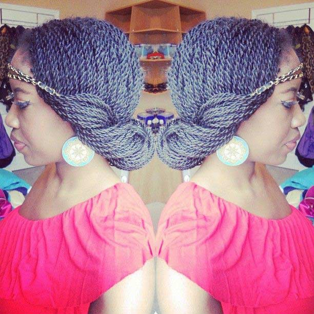 29 senegalese twist hairstyles for black women stayglam senegalese twist headband updo source pinterest pmusecretfo Image collections
