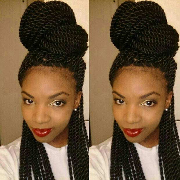 Awesome 29 Senegalese Twist Hairstyles For Black Women Stayglam Hairstyle Inspiration Daily Dogsangcom