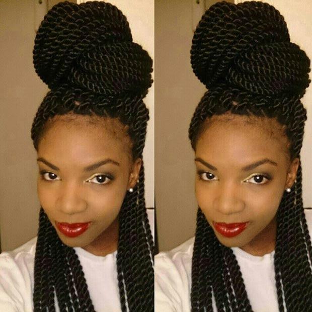 Surprising 29 Senegalese Twist Hairstyles For Black Women Stayglam Short Hairstyles Gunalazisus