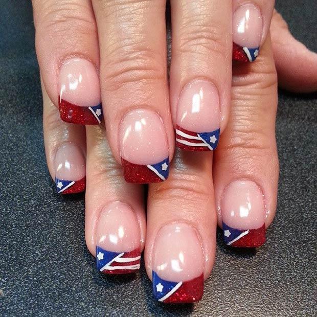 FlagFrench Nail Tips