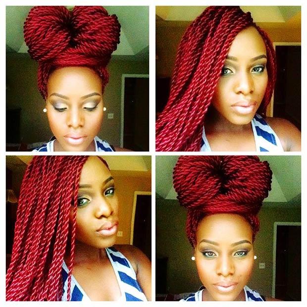 Sensational 29 Senegalese Twist Hairstyles For Black Women Stayglam Short Hairstyles Gunalazisus