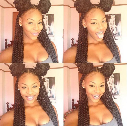 Crochet Braids Bun Styles : 29 Senegalese Twist Hairstyles for Black Women StayGlam