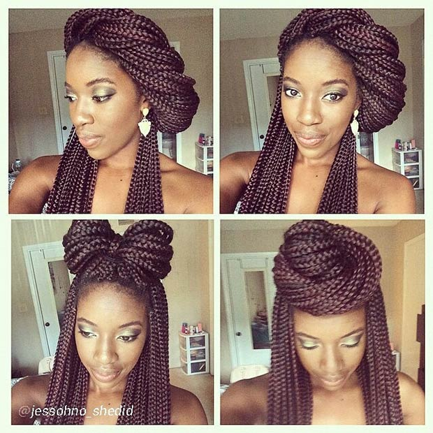 3 Easy and Cute Box Braids Styles